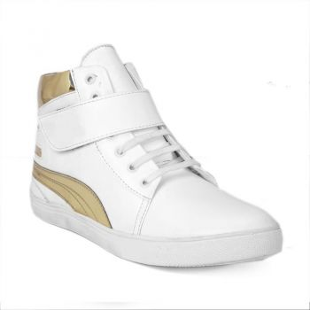 Stylish Casualwear White Ankle Length With Buckle Shoes